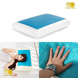 New Cooling Gel Memory Foam Pillow Head Spine Support Air Cool Touch Gel pillow