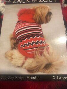 Dog Zig-Zag Stripe Hoodie  X Large