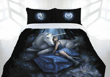 Anne Stokes Blue Moon Unicorn Maiden Quilt Doona Cover Set - DOUBLE QUEEN KING