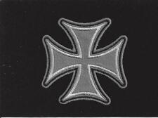 GRAY MALTESE IRON CROSS VALOR WW 2 HAT PATCH IRON ON GERMAN NAVY ARMY AIR FORCE
