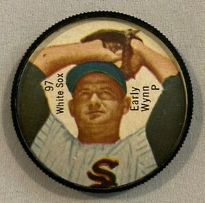 Early Wynn 1962 Salada Tea and Junket Coin #97 Pitching Variant !!!  WHITE SOX