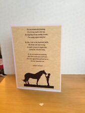 Handmade Pet Horse Sympathy Card