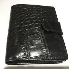 VINTAGE nero coccodrillo a Libro in Pelle Furla Donna Portafoglio, Card Case & Modifica Borsetta