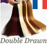 7A FR EXTENSIONS DE CHEVEUX TAPE BANDES ADHESIVE POSE A FROID NATUREL