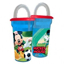 Official Disney Mickey Mouse Childrens Drinks Cup With Straw Sip Cup Tumbler