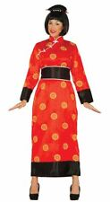 Womens China Chinese Far East Mandarin Fancy Dress Costume Ladies Outfit