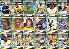 Brazil 1970 World Cup winners football trading cards
