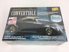Lindberg 1937 Ford Custom Convertible 1/24 model Car Kit New Hl129 Made In Usa  00004000