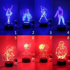Star series MJ Billie Eilish 3D LED Room Decor Night Light Table Lamp With Plug