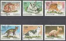 Timbres Chats Cambodge 1524/9 o lot 2272
