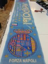 1 sciarpa napoli stemma borbonico colori scarf bufanda calcio football art fra