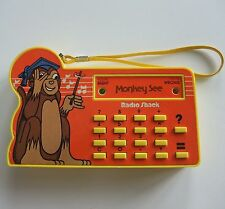 Vintage Radio Shack Tandy Monkey See Math Game Calculator Yellow