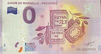 BILLET 0 EURO SAVON DE MARSEILLE  2017 NUMERO 5000 DERNIER BILLET