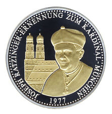 PAPST Benedikt XVI. - ERNENNUNG zum KARDINAL München - GOLD und SILBER veredelt