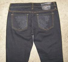 NWT Ed Hardy by Christian Audigier black Skinny Jeans sz 8/30 Embroidered skulls