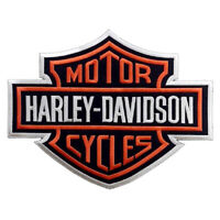 "Harley Davidson Motorcycle Biker Logo Large Size  12.0""x9.5"" Sew Iron on Patch"