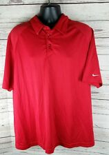 Nike Team XL Fit Dry Red Collared Shirt Golf Polo Sport