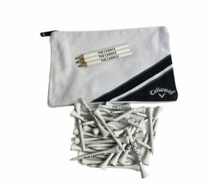 Callaway Golf Zipped Valuables Pouch Bag The Carrick Pencils And Tee Pegs New