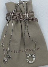 David Yurman Silver/diamond Mini Pendant