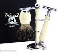 Classic Men's Shaving Set Double Edge Safety Razor & Black Badger Brush + Stand
