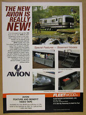 1989 Fleetwood Avion Travel Trailer basement model photos vintage print Ad