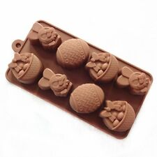 Cake Mold Soap Mold Rabbit Easter Egg Mold Silicone Candy Chocolate Cake Mould