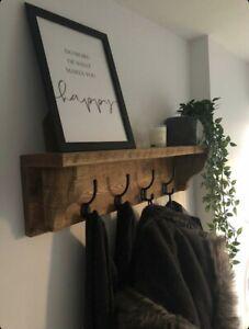 Wooden Coat Rack, Coat Hook, Coat Storage, Coat rail, Shelf, Coat hooks