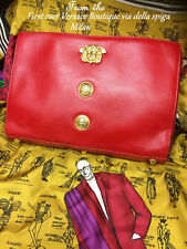 Vintage Gianni Versace Donna Boutique Exclusive large clutch medusa leather bag