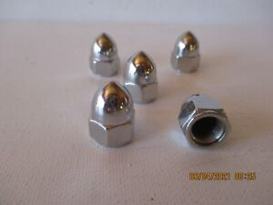 FORD FLATHEAD TRICK BULLET CHROME HEAD NUTS - SET OF 48 - NEW - FREE SHIPPING