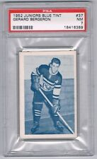 1952 Juniors Blue Tint Hockey Card Three-Rivers #37 Gerard Bergeron Graded PSA 7