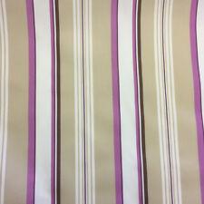Púrpura De Rayas Estampado 100% Algodón Cortina Diseño Tela EXCEPCIONAL CALIDAD
