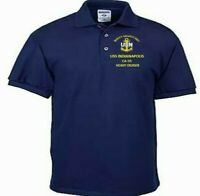 USS INDIANAPOLIS  CA-35  CRUISER NAVY EMBROIDERED LIGHT WEIGHT POLO SHIRT