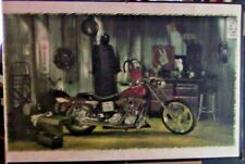 """Vintage Barn Find: Harley Davidson """"In the Garage"""" Poster"""