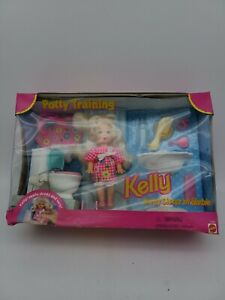 Barbie 1996 Kelly Doll Potty Training Play Set Kelly Drinks & Wets By Mattel
