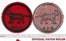 Old BSA FELT Patrol Patch -  CAT - B & W Thread Back