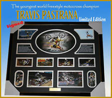 TRAVIS PASTRANA MOTOCROSS CHAMPION SIGNED FRAMED LIMITED EDITION, FINAL A FEW!!