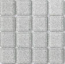 Silver Glitter Glass Mosaic Tiles Feature Wall Splashback Borders Sample MT0073