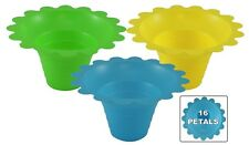 100 ct 4-8oz FLOWER CUP- Snow Cones/Shaved Ice/Ice Cream- 3 Colors FREE SHIPPING