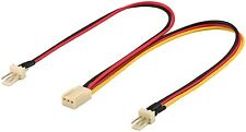 Lüfter Y Adapter Kabel Molex 3 Pin Buchse auf 2x Stecker Splitter 0,20m 20cm