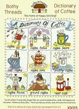 BOTHY THREADS DICTIONARY OF COFFEE COUNTED CROSS STITCH KIT - NEW