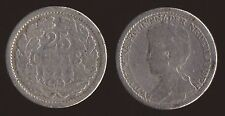 OLANDA NETHERLANDS 25 CENTS 1914 ARGENTO SILVER