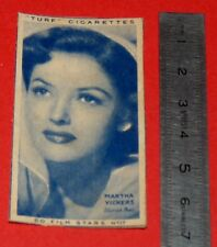 CINEMA 1947 TURF CIGARETTES CARD FILM STARS 17 MARTHA VICKERS HOLLYWOOD ACTRICE
