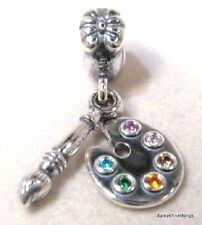 NEW/TAGS  AUTHENTIC PANDORA SILVER CHARM ARTIST'S PALETTE #791268CZMX   RETIRED