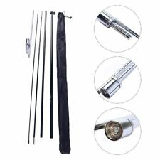 Windless Feather Flag Pole Set Kit with Ground Spike (No Flag Included)