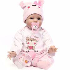 22'' Handmade Lifelike Newborn Silicone Vinyl Reborn Baby Doll Full Body Gifts