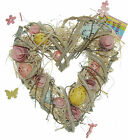 Easter Egg Wreath Heart Shaped Natural Easter Wreath 25cm