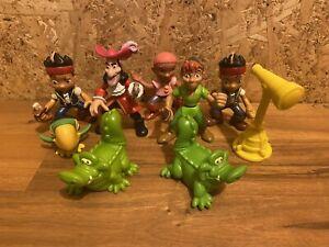 2011 Mattel Peter Pan Assorted Disney 2.3 Inch PVC Figures + Pirates Bulk Lot