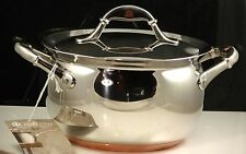 Ruffoni Gourmet Cookware Covered Sauce Pot Vitruvius Stainless Steel Copper NWT