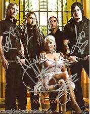 """In This Moment band Reprint Signed 8x10"""" Photo #1 RP ALL 5 Members Maria Brink"""