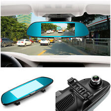 "7"" HD1080P Android 5.0 CAR DVR Rearview Mirror Dash Camera 2 Lens 3G WIFI GPS UK"